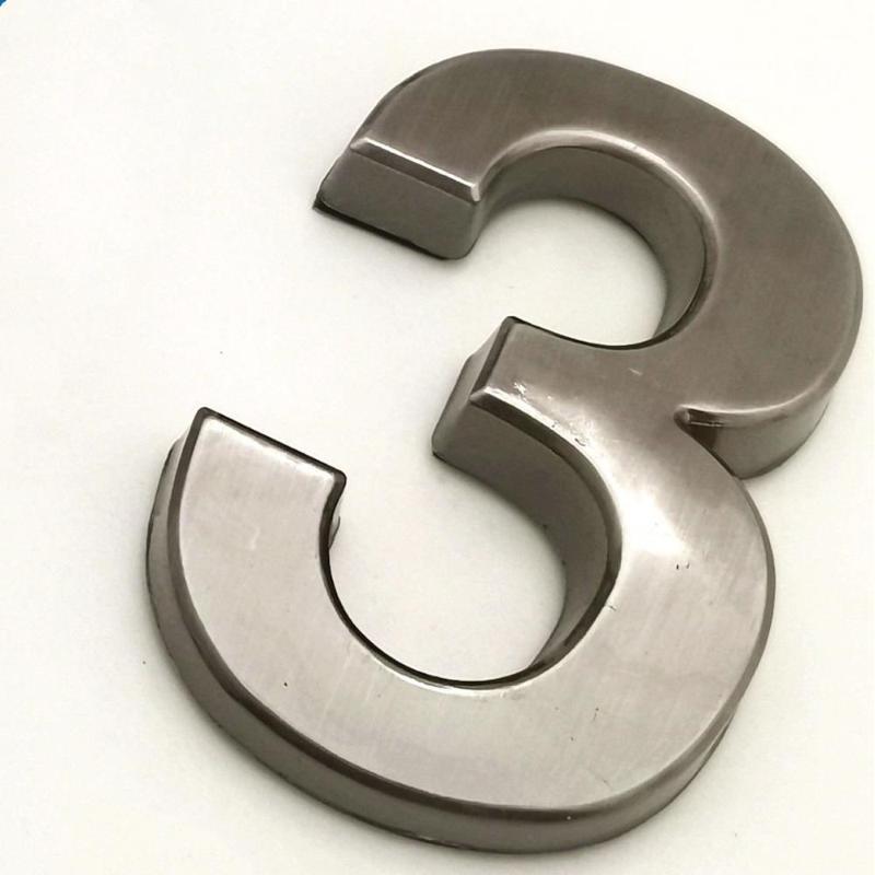 5cm 다크 그레이 하우스 번호 스티커 플라스틱 도어 플레이트 자체 접착 숫자 플라크 기호 주소 태그 기타 하드웨어