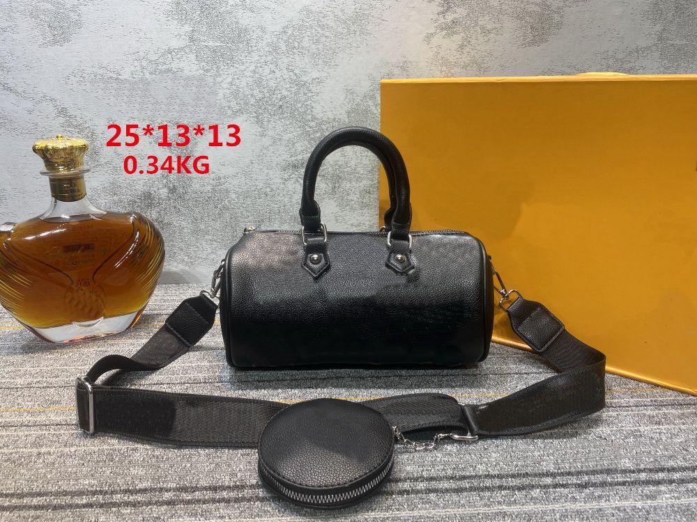 Hohe Qualität Mode Schulter Schwarz Taschen Handtaschen 2 stücke Crossbody Baga Brieftasche Handtasche Tasche Brieftaschen Frauen Reißverschluss Cover Messenger Bagsa