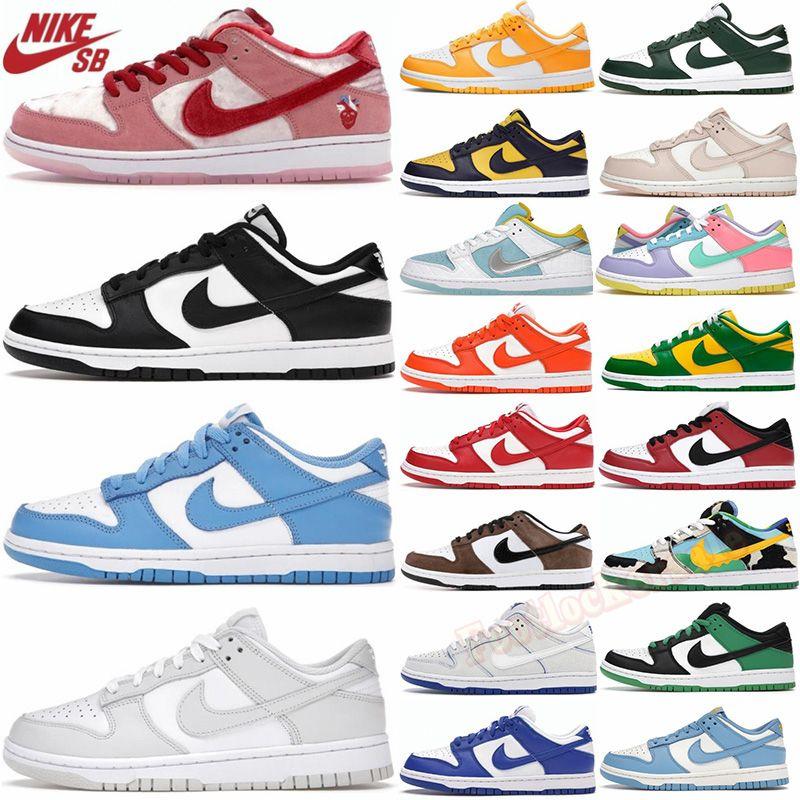 أحذية رياضية عالية الجودة للرجال مصممة على الموضة أحذية رياضية منحرفة B23 أحذية رياضية كلاسيكية للسيدات بنعل سميك مطرزة من القماش مطبوعة برقبة منخفضة مع صندوق