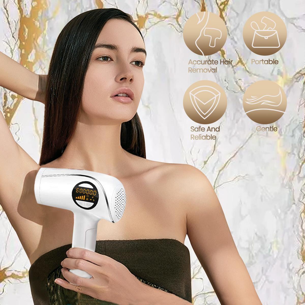 IPL لنزع الشعر الدائم مزيل الشعر المزهر غير مؤلم و خفيفة الجسم كله الساق العطاء الجلد تجميد نقطة تجديد