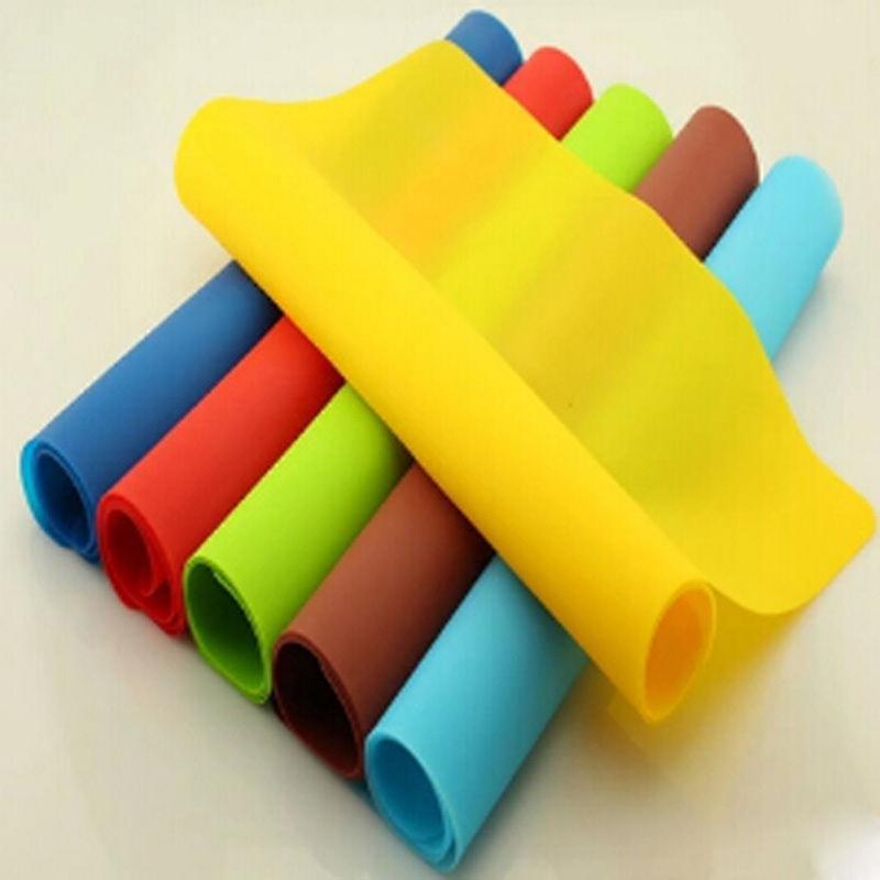 Paspaslar Pedleri Silikon Pişirme Mat Yapışmaz Pan Astar Placemat Masa Koruyucu Pad 6 Renkler
