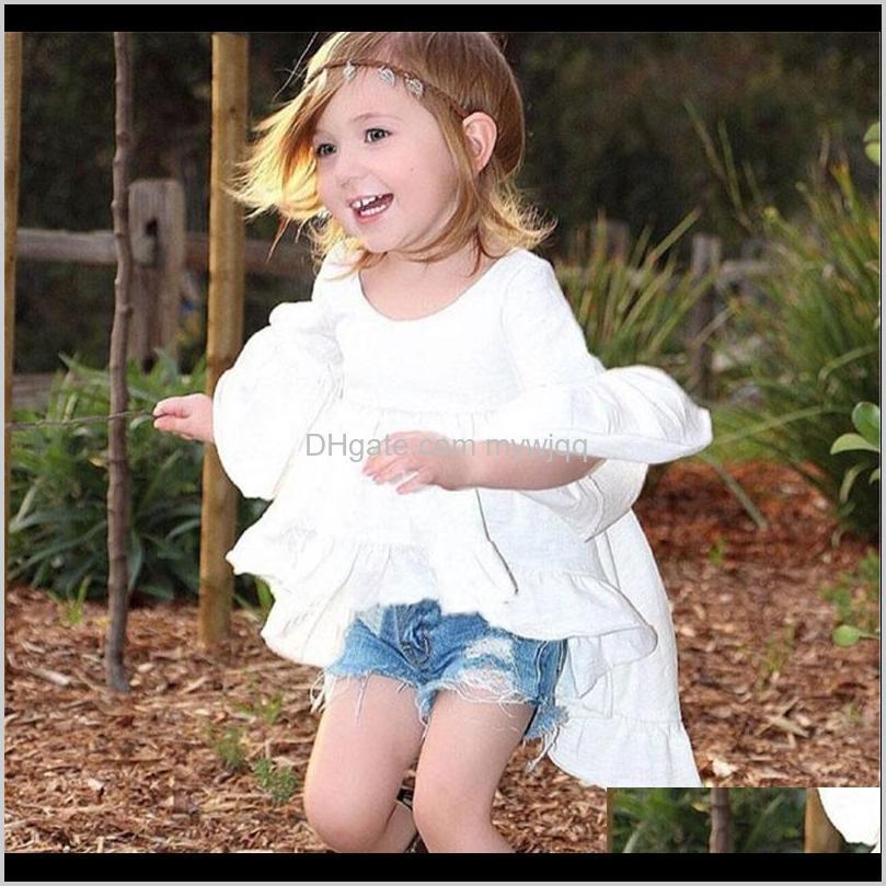 Clothing Sets Designer Brand Toddler Kids Baby Girls Summer Outfits Clothes Dovetail Dress + Denim Shorts 2Pcs Set 710 Gze4 Rtlwz