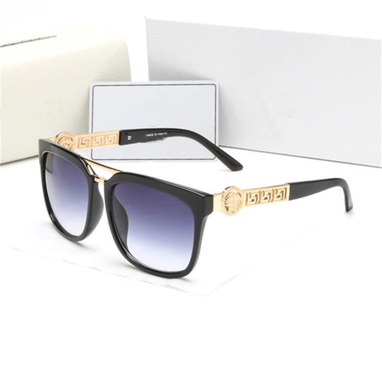 ظلال الصيف VE 2097 النظارات الشمسية الرجال النساء 4334 426-2 خمر رجل نظارات 426-2 رجل ركوب الرياح الزجاج القيادة المرأة الشمس شاطئ في الهواء الطلق نظارات شمسية مع صندوق القضية