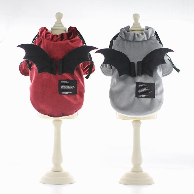 كلب الملابس مضحك الحيوانات الأليفة الملابس سترة تأثيري الأسود الخفافيش الجناح القط هالوين حزب لطيف زي الملابس المتوسطة الصغيرة