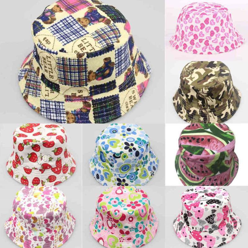 Fisherman Top Hat Children Flowers Cartoon Leisure Basin Summer Kids Sun Cap Girls Accessories Beanie Baseball Cowboy Hats Wholesale G49T0TR