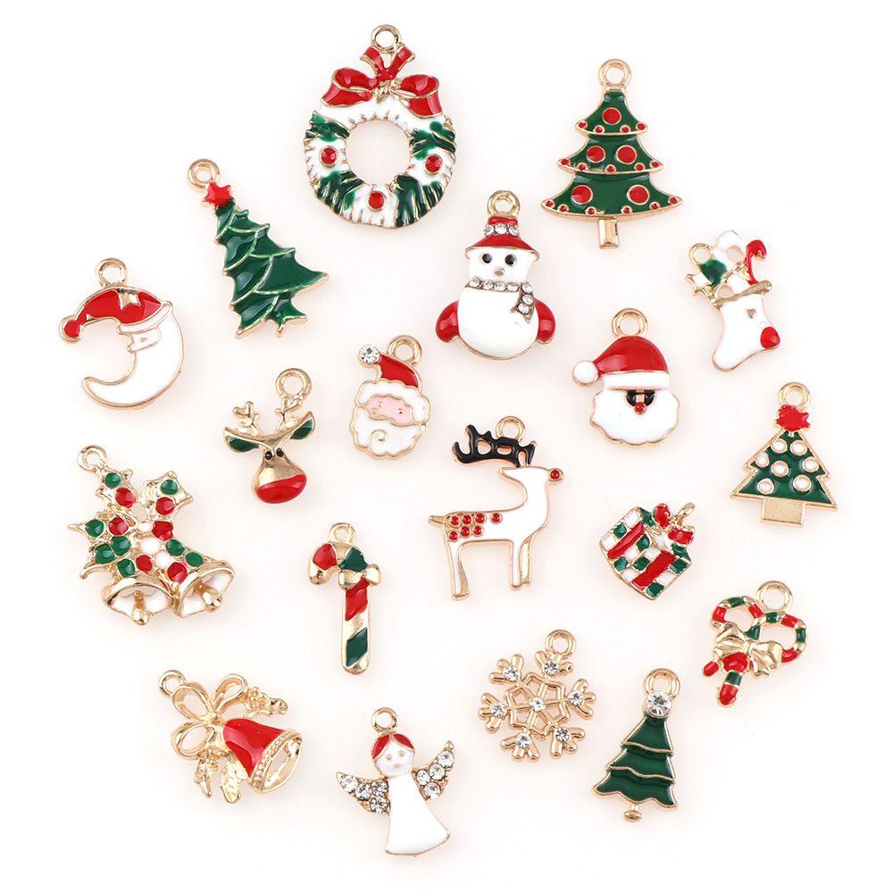 Charms Christmas 20 sztuk Shiny Gold Mix Unikalne wisiorki Ekmix1 Biżuteria Wykrycia DIY Hurtownie