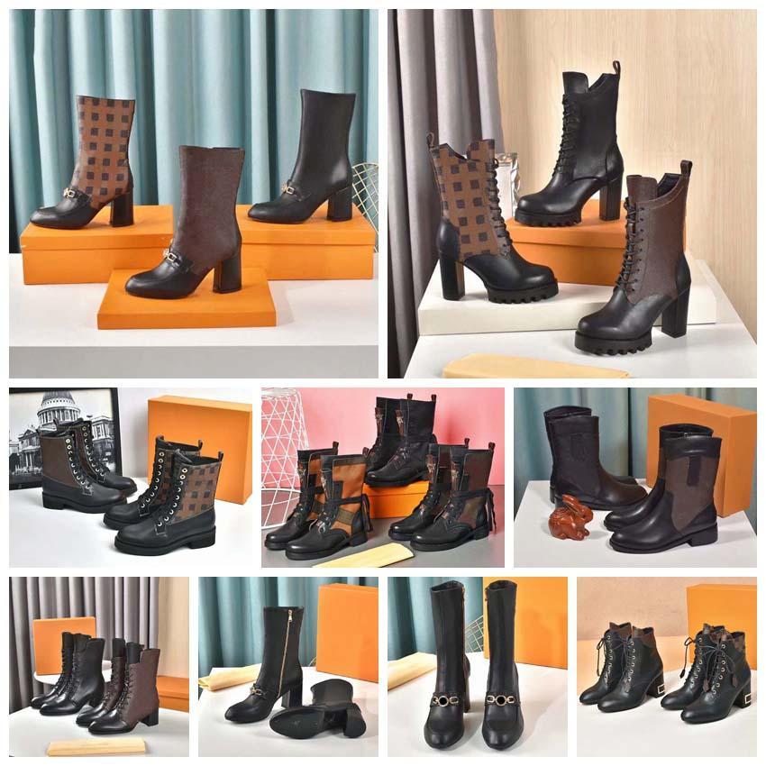 Clássicos elegantes e requintadas Botas das mulheres altas saltos e couro genuíno botas de moda ao ar livre por home011 15