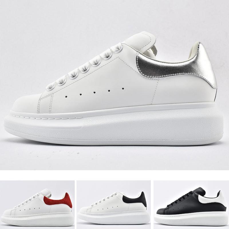 Zapatos de plataforma clásicos 20ss Laser Triple Schwarz Weiß Weiß Schwarz Perlleder Klein Grün Laufsport Sneaker Größe 36-45