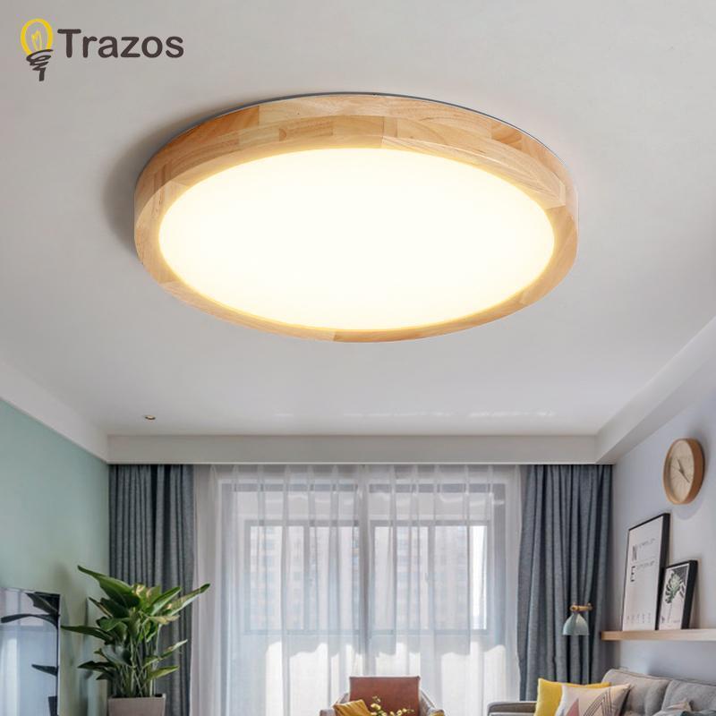 천장 조명 거실 침실에 대 한 현대 패널 램프 침실 주방 발코니 라운드 나무 디밍 원격 제어