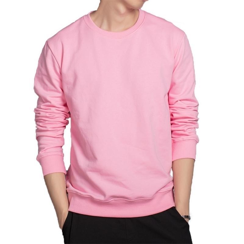 Sweats à capuche pour hommes Rose Noir rouge gris rouge blanc Couleur à capuche à capuche en coton respirant Sweatshirts Casual Outwear Soft Vêtements 210330