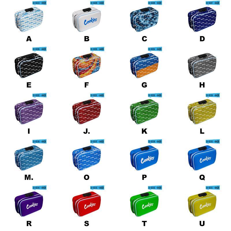 Saco de armazenamento de cookies com bloqueio codificado Bolso principal codificado bloqueio interlayer e-cigarro acessórios