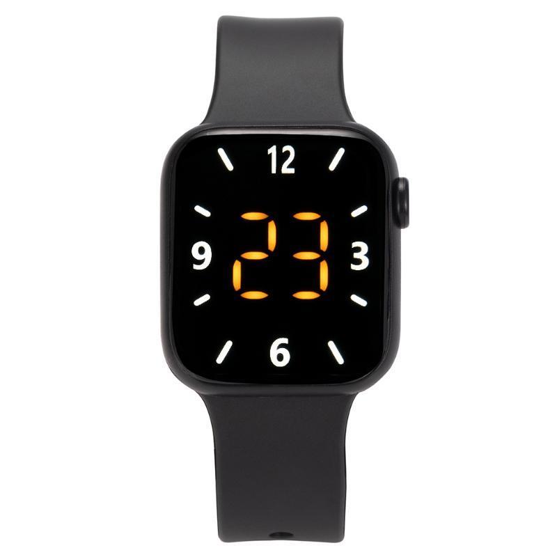 Saatı erkek spor izle okul çocuk için LED dijital silikon bilezikler elektronik özel hediye zegarek montre femme