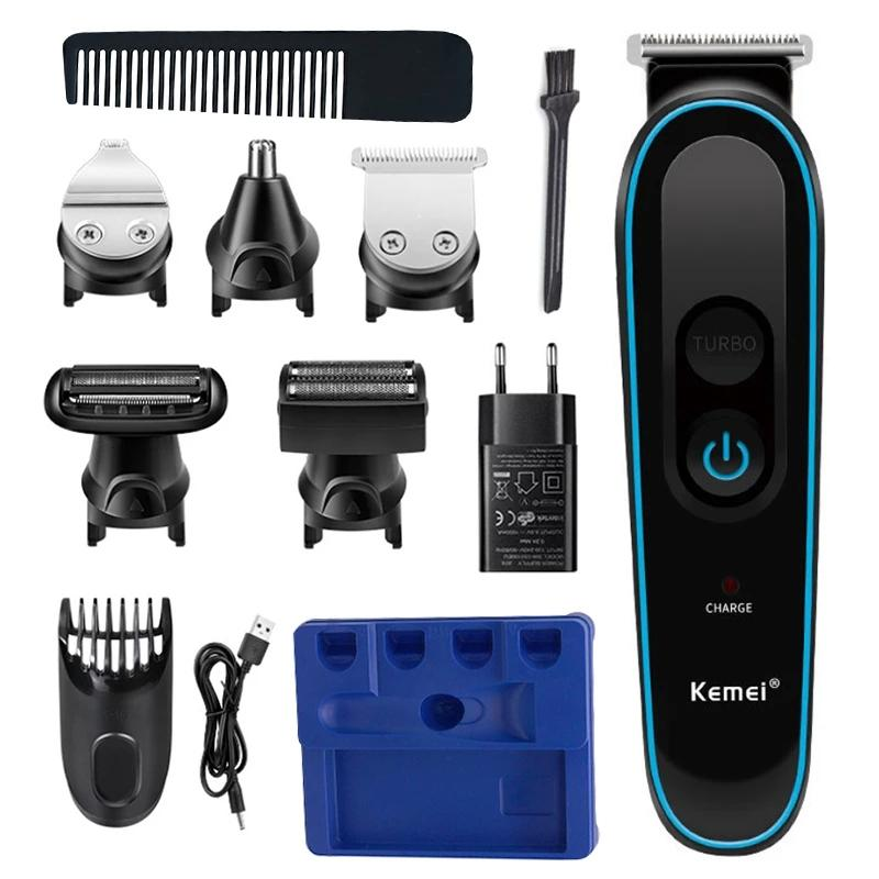 5in1 Профессиональный триммер для волос для мужчин Машина для лица Electric Checkper для волос Борода для волос борода