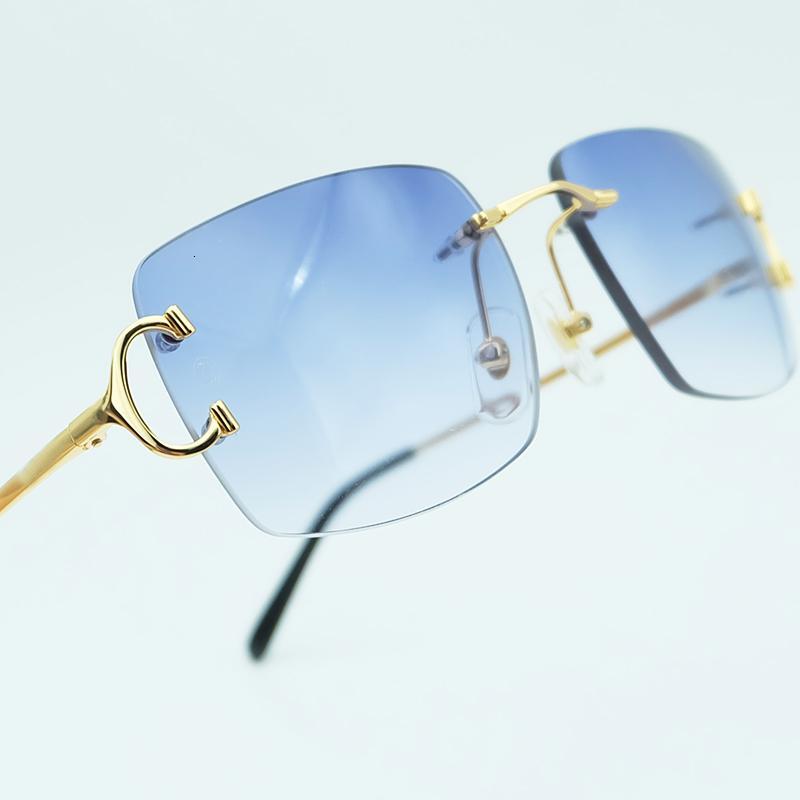 Gafas Lujo para Square Deco Shades Hombres Mujeres Altas Mujeres Conduciendo Partido Popular Eyewear Calidad Sunglass Sun Gafas de sol Retro Carter JF