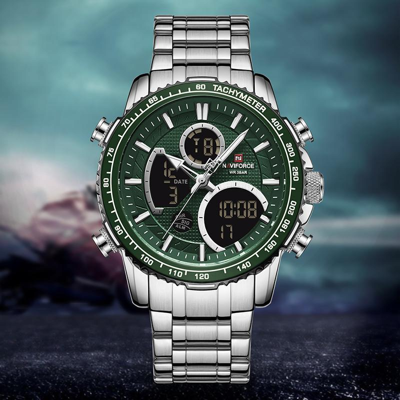 Armbanduhren Top Marke Naviforce Männer Uhren Mode Quarz Uhr Militär Chronograph Digital LED Sports Relogio Masculino 2021