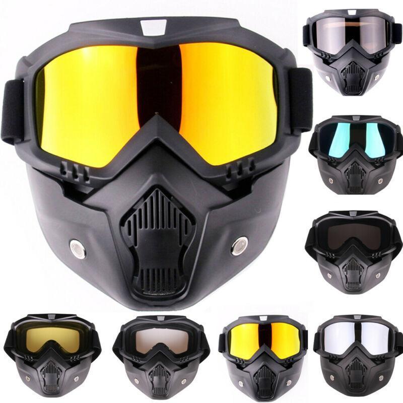 성인 이동식 겨울 눈 스포츠 오토바이 고글 스키 스노우 보드 스노우 보드 전체 얼굴 헬멧 안경