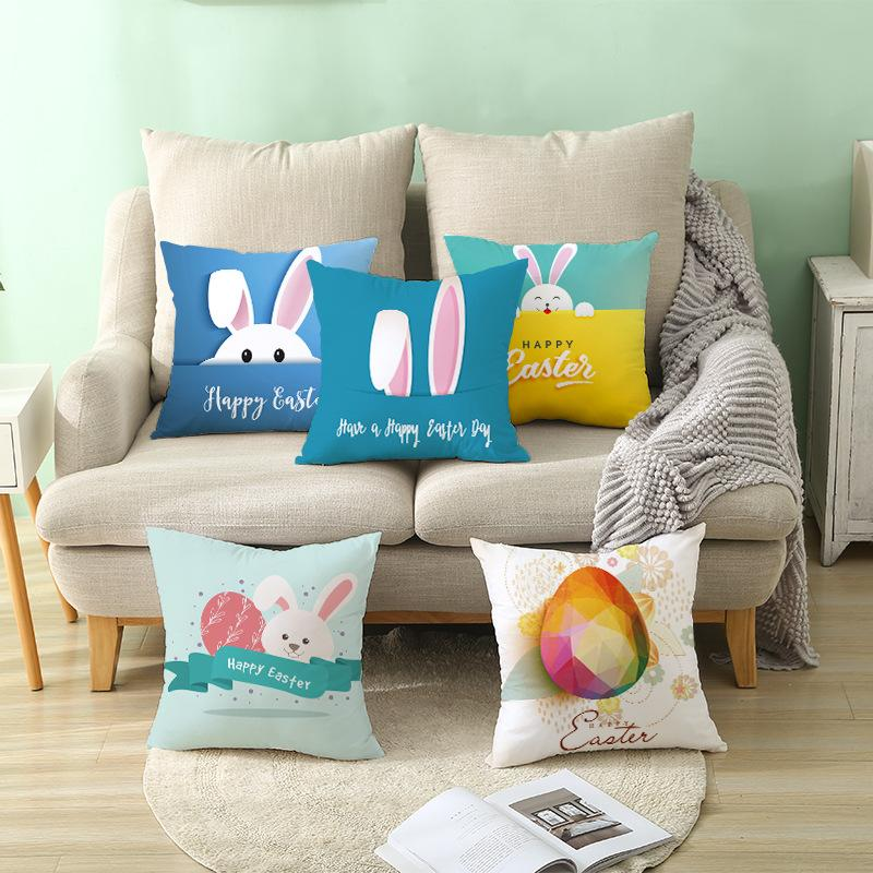 Easter bunny Pillows Case rabbit Letter print Pillow Cover 45*45cm Sofa Nap Cushion Covers Home Decoration 86 styles C6081 627 Y2