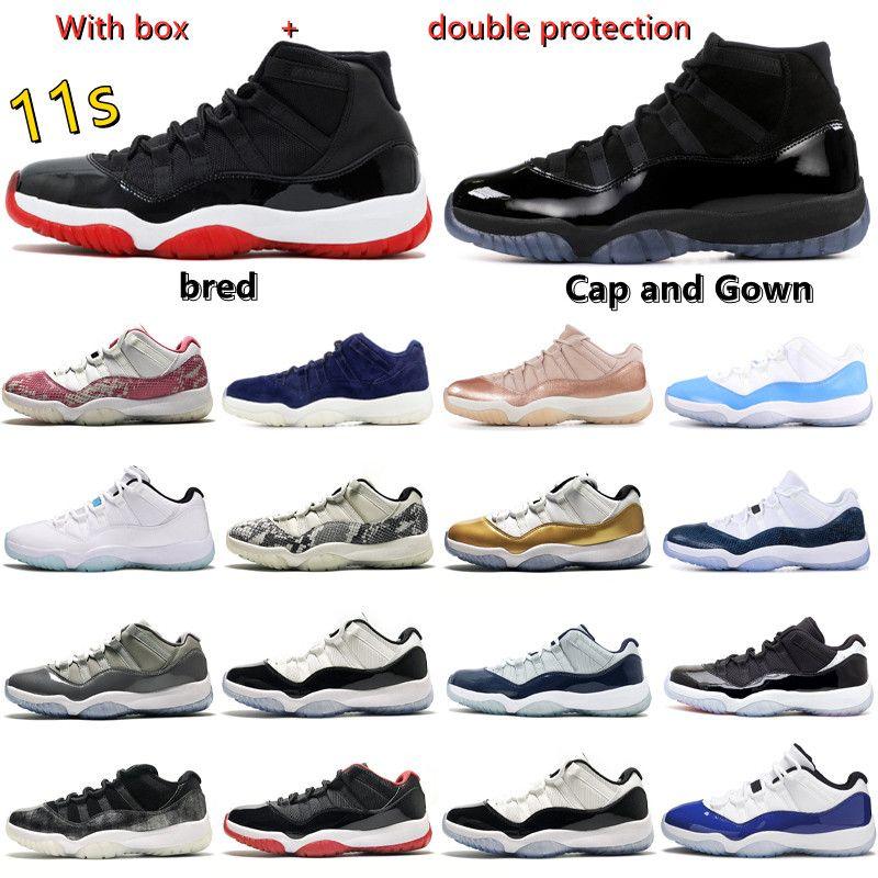 2021 Jubiläum Cool Grey Jorden 11 Männer Basketball Schuhe Feuer Rot Sneakers gezüchtet 11s Low Gamma Legend University Blue Concord Space Marmelade Schwarzer Katze Weiße Zement Frauen UNC