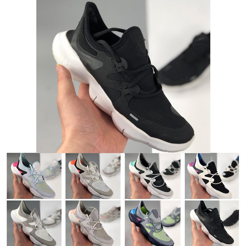 2021 GRATUIT RN 5.0 Hommes Chaussures de course Mâle Sports Sneakers Été Cool Dames Respirant Run Femmes Femmes Traineuse en tricot léger