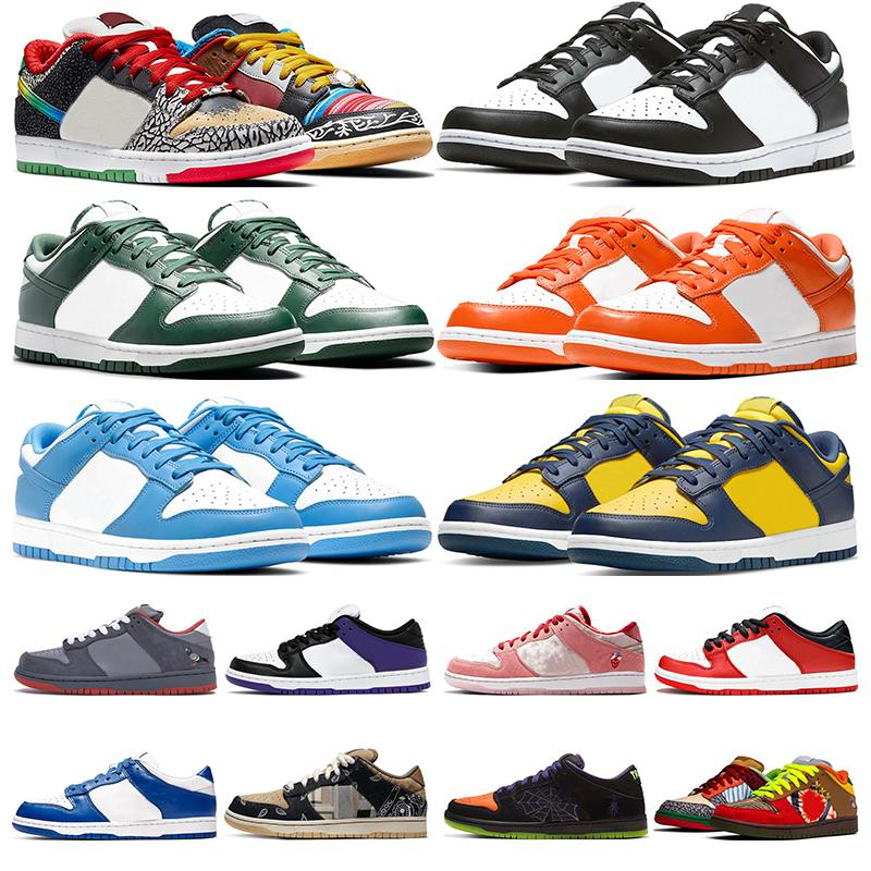 Smaç ne paul erkekler kadınlar düşük koşu ayakkabıları üniversite mavi varsity yeşil michigan siyah beyaz ts syracuse gölge dunks moda eğitmenler spor ayakkabı spor ayakkabı