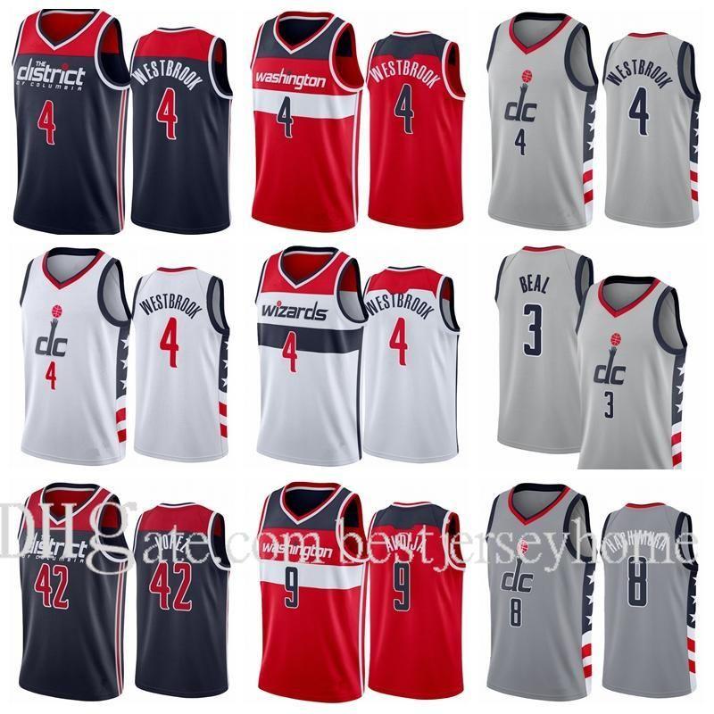 Imprimir Baloncesto Bradley Beal # 3 Rui Hachimura 8 Russell Westbrook Jersey 4 Robin Lopez 42 Cassius Winson 5 Deni Avdija 9 Ciudad Gris S-2XL
