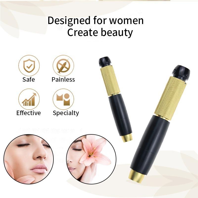 3 Gear Pressure Hyaluron Pen Hyaluronic Acid Pen High density Metal Body Injector For Anti Wrinkle Lip Lifting Atomize Injection