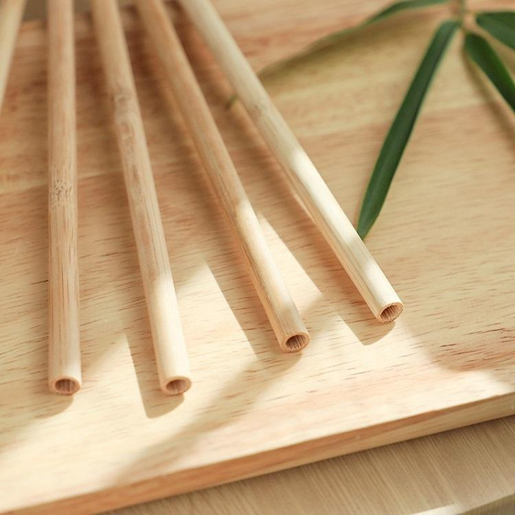 Beverage Drinking Straws milk tea natural bamboo straw bamboo color Barware home Kitchen Coffee tools 7mm*200mm T2I51870