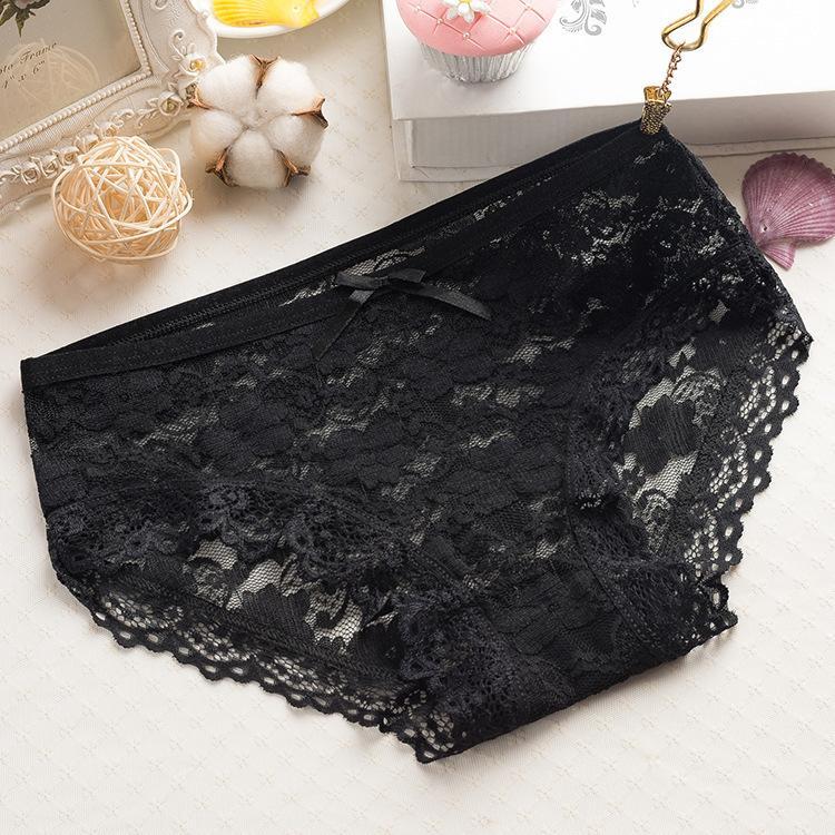 Bragas de una pieza de una pieza de triángulo traceless ropa interior de cintura baja encaje sexy transpirable jacquard pantalones de malla