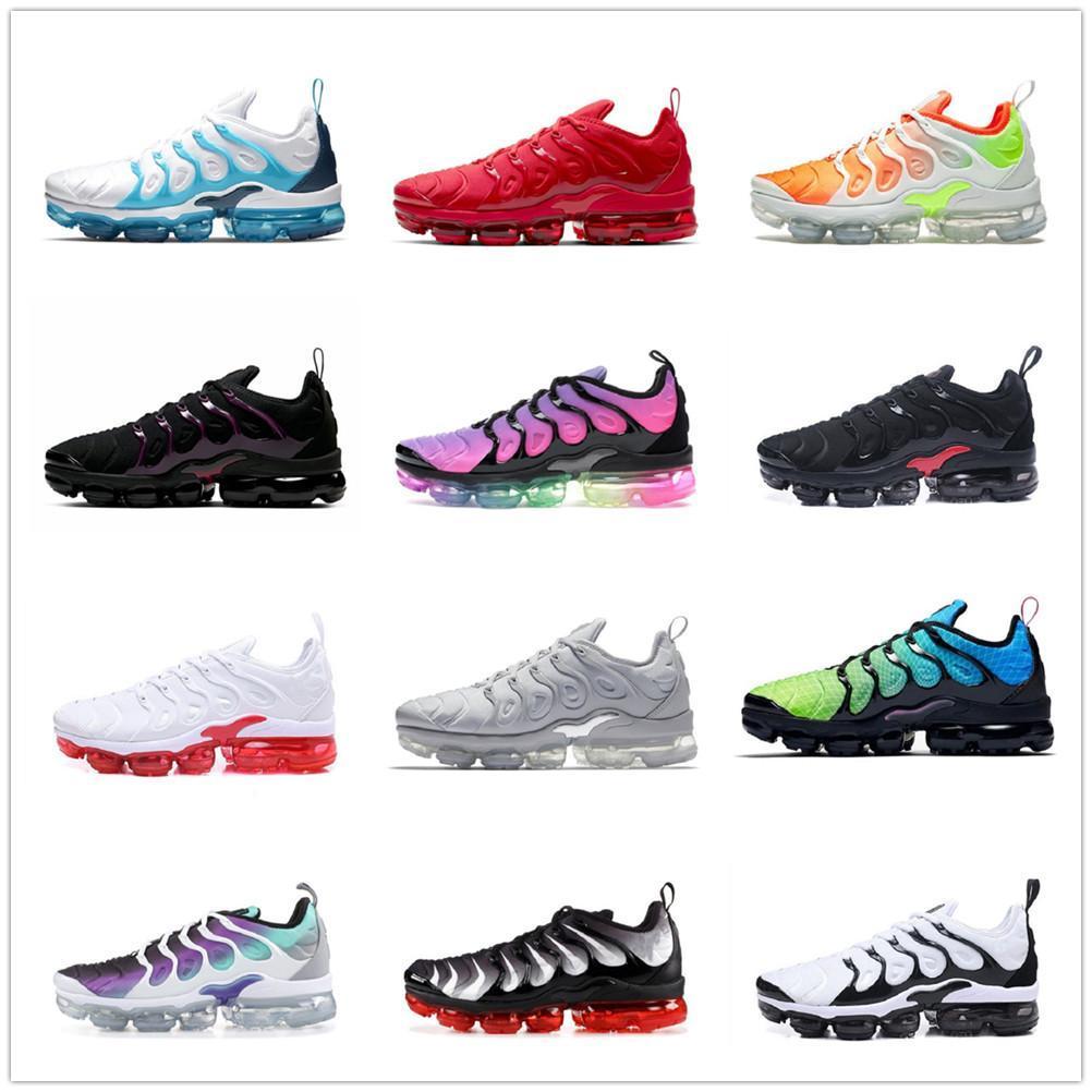 Tn plus zapatos para hombre mujeres negro blanco noble todo rojo oscuro azul gris naranja oliva hombres zapatillas deportes al aire libre entrenador de gran tamaño 36-47