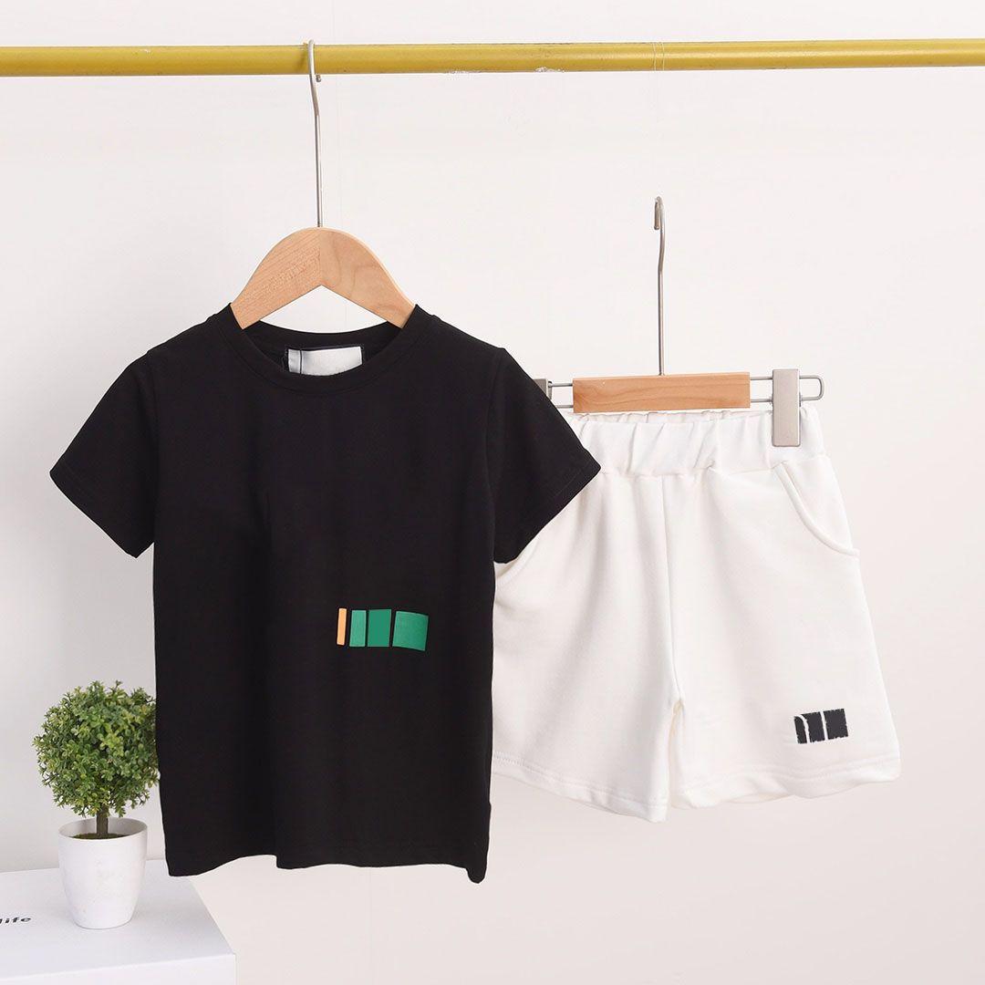 Conjuntos de ropa para niños Cartas casuales Vestido de verano Ropa deportiva para niños Ropa de niñas Bebé de dos piezas Traje de dos piezas Trajes cómodos