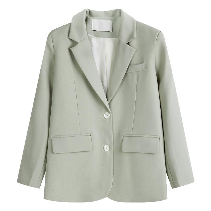 Mode frauen lässig einreihig anzug jacke frühling herbst 2021 koreanische stil lose britisch s538 anzüge blazer