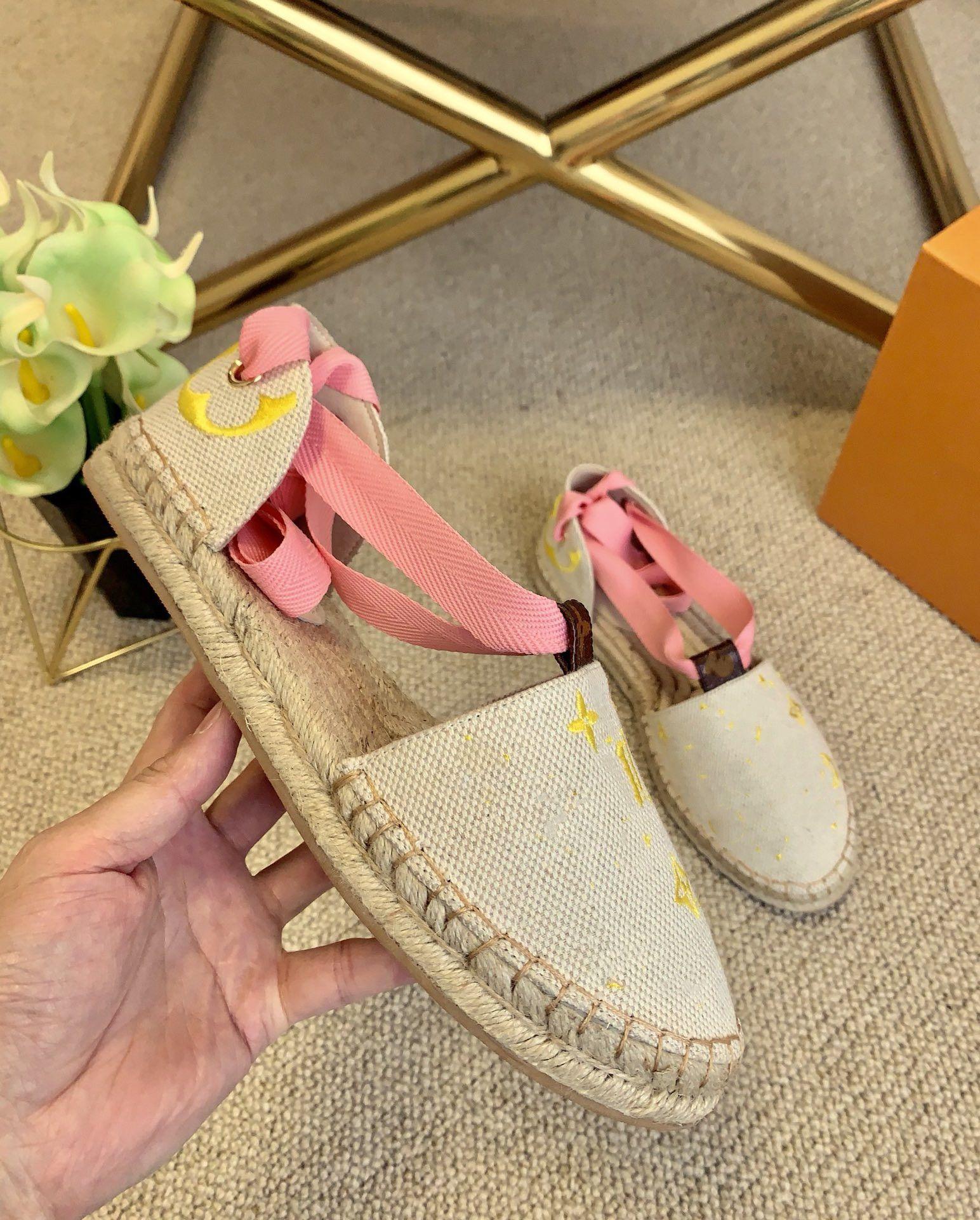 T120C 2021 Последние высококачественные сандалии конопли веревка ткачество дизайн женские тапочки высокой каблуки туфли флип флип флопа мода повседневная