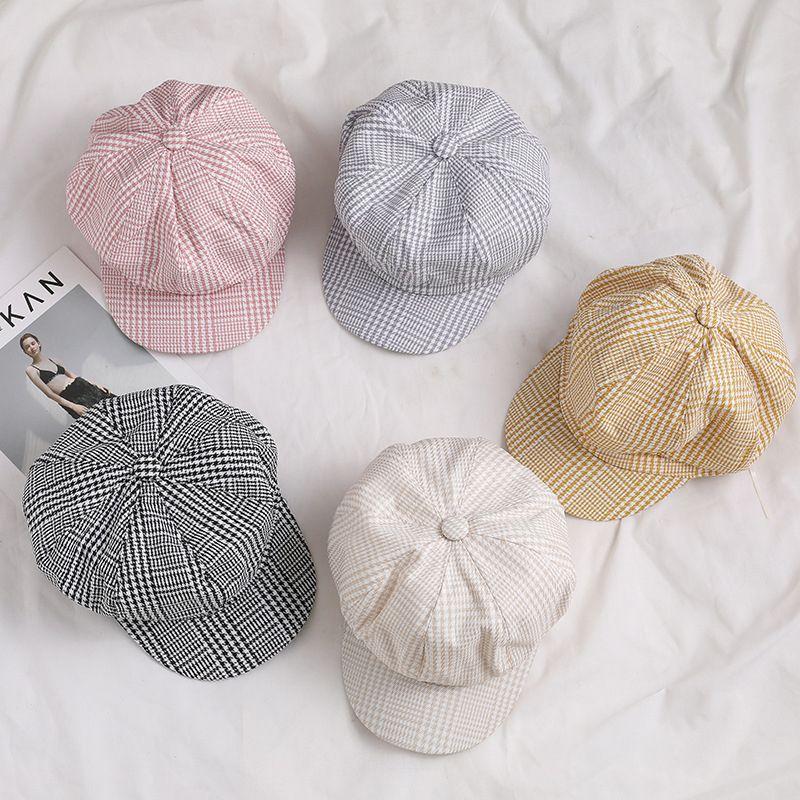 Mujeres AUTUT AUTUT Y MODA DE INVIERNO Color sólido Mantenga el tapa caliente de alta calidad Streetwear Hat Pintor Newsboy Octagonal Cap TG0205