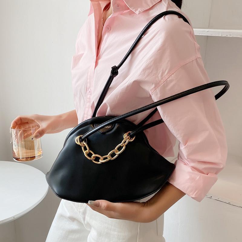 여성을위한 부드러운 가죽 크로스 바디 가방 2021 여름 Soild 컬러 어깨 간단한 가방 여성 패션 핸드백 및 지갑 # 8869 totes