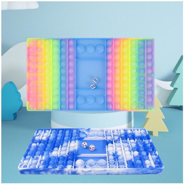 Giant Large Chessboard Fidget Toys Party Favor Push Bubble Squeeze Sensory Bath Decompression Toy poo-its Bubbles Board Mega Jumbo Size Desktop Game DHL CS06