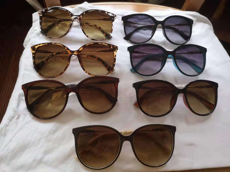 Mulheres Luxo Grande Quadro Marca Designer Sunglasses Proteção UV Estilo de Verão Qualidade Top Quality Outdoor Sunnies 7 Cores 10 Pçs Fábrica Price