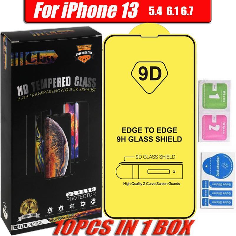 9D حامي الزجاج المقسى لآيفون 13 12 برو ماكس xr xs x سامسونج a02s a03s a20s a20 a30s a40s a50s شاشة غطاء كامل فيلم مع حزمة البيع بالتجزئة