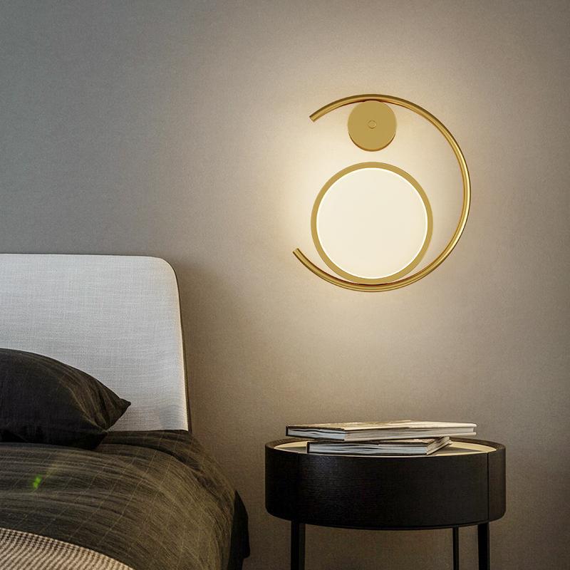 Modern Minimalist LED Duvar Lambaları Basit Ev Yatak Odası Başucu Lambası Nordic Hotal Oturma Odası Arka Plan Duvar Işık Yaratıcı Koridor Merdiven Banyo İç Aydınlatma