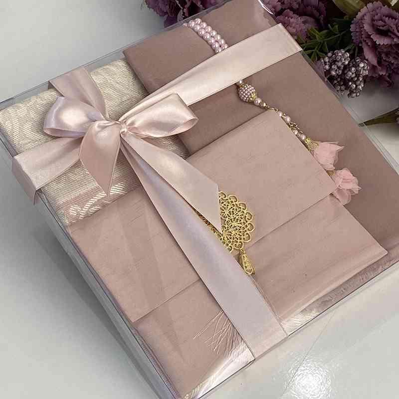 Velours rose Islamic Set Yaseen Favors Perles de prière arabe Tasbih Quran Coran Moyens Musulman Mariage Hajj Favoris Eid Cadeau Kuran Kerim 210330