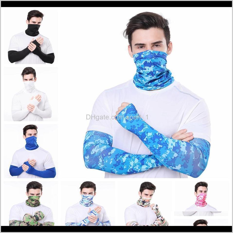 Textiles maison maison goutte livraison 2021 hommes bandana magie écharpe gants manches de protection SPORT SUN SUN Protection UV protection de refroidissement Visage de visage pour r