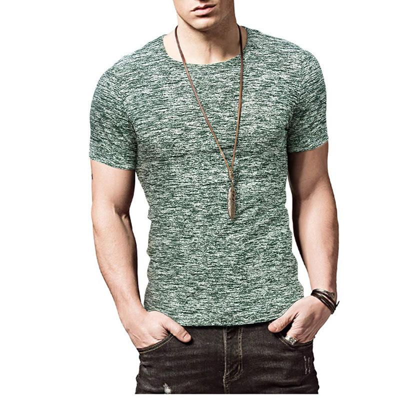 الرجال بأكمام قصيرة تي شيرت شخصية الصيف سليم اللياقة الصلبة اللون الرياضة تجفيف الملابس سريعة التجفيف في الهواء الطلق البلوز تي