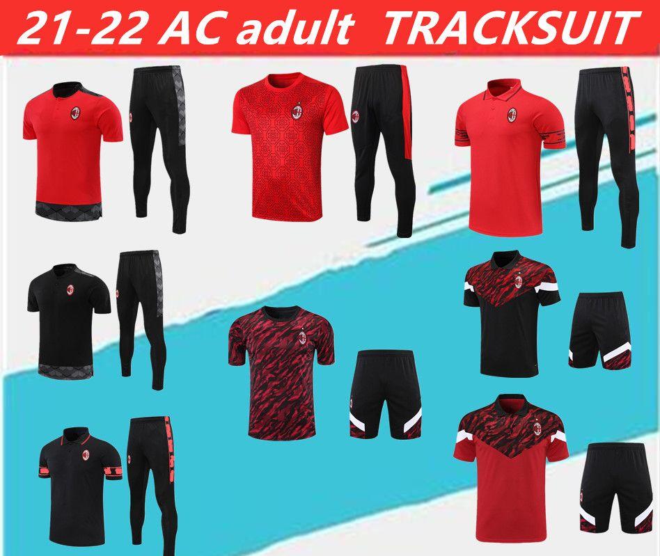 En Kaliteli 21-22 Milano Polo Gömlek Eğitim Suit Soccer Jersey. Kırmızı Kazak Kiti 20/21 AC Kısa Kollu Futbol Spor Boyutu S-2XL