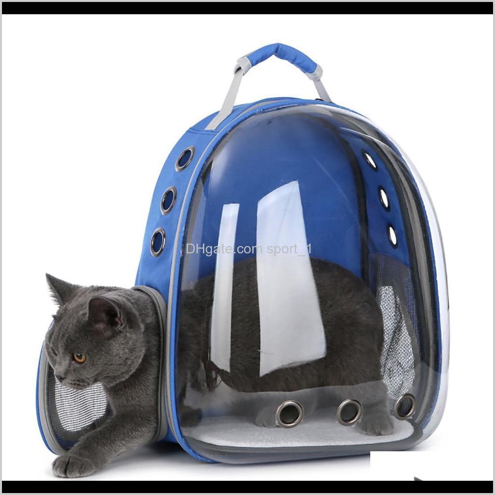 Carrierscrates alberga gatos y pequeña cápsula transparente cápsula transpirable bolsa de hombro mascota fuera de viaje portátil portátil transportar mochila perros DYZ6J