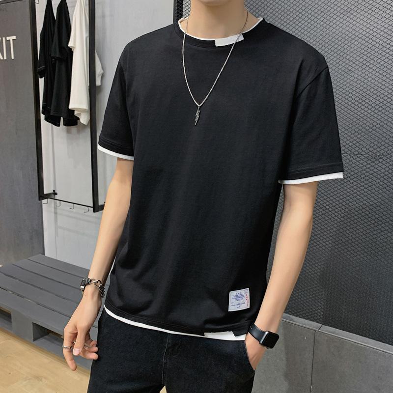T-shirt 2021 Summer cotone manica corta t-shirt t-shirt uomo girocollo versatile camicia casual da uomo 2130
