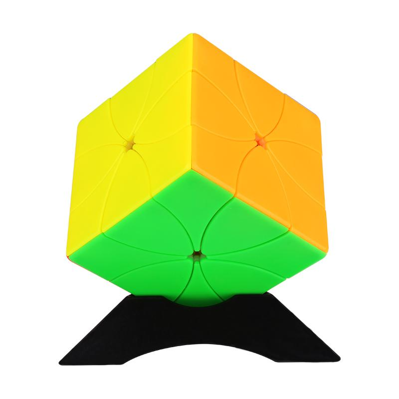 Yuxin ثمانية بتلات المغناطيسي مكعب 3x3 ثمانية أوراق الزهور لغز غريبا شكل سرعة مكعب المهنية لغز للأطفال اللعب