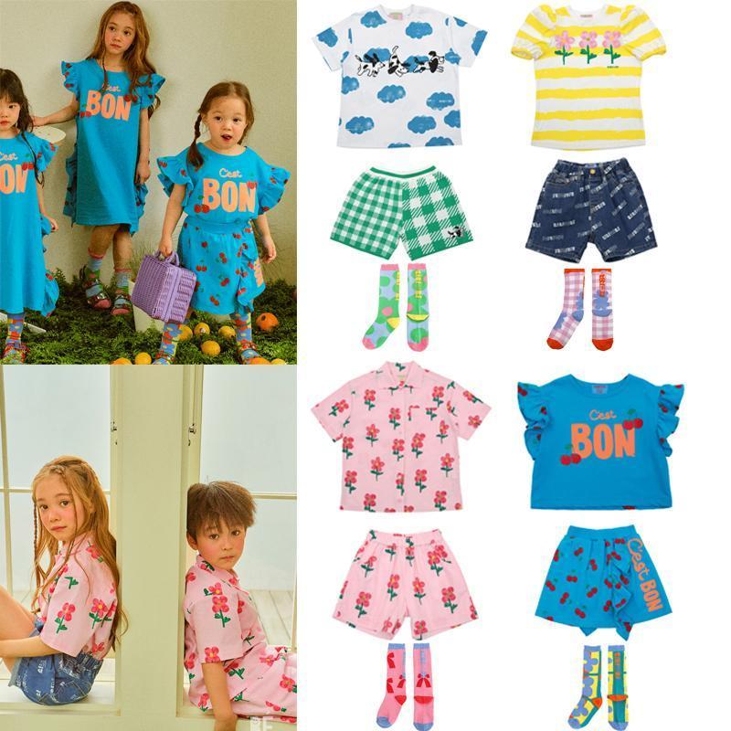 Vêtements Ensembles Kids T-shirts 2021 Arrivées d'été Vêtements garçons Vêtements Girls Tenue de dessin animé Courtiers à manches courtes Toddler Tops Tees