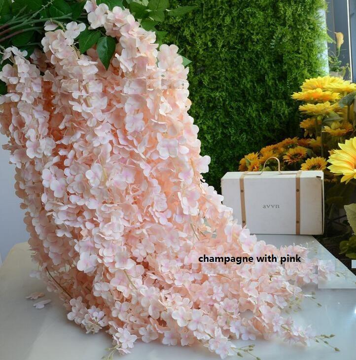 Artificial Wisteria Vine Rattan Silk Flower 1.64 Meter Wedding Centerpieces Decorations Bouquet Garland Wedding Decorations Ornament
