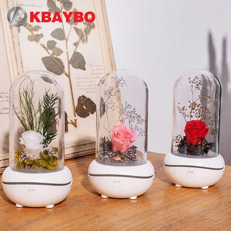 Очистители воздуха KBaybo Machine Eternal Flower Эфирное масло с LED Night Light Peorificate Diffuser Home Office