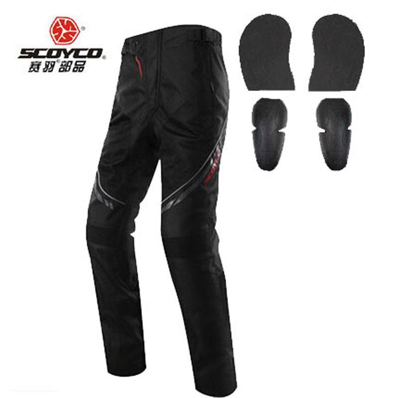Yaz Nefes Dayanıklı Scoyco P027-2 Oxford Motocross Pantolon Ekipmanları Moto Motosiklet Pantolon Diz Hip Pad Giyim