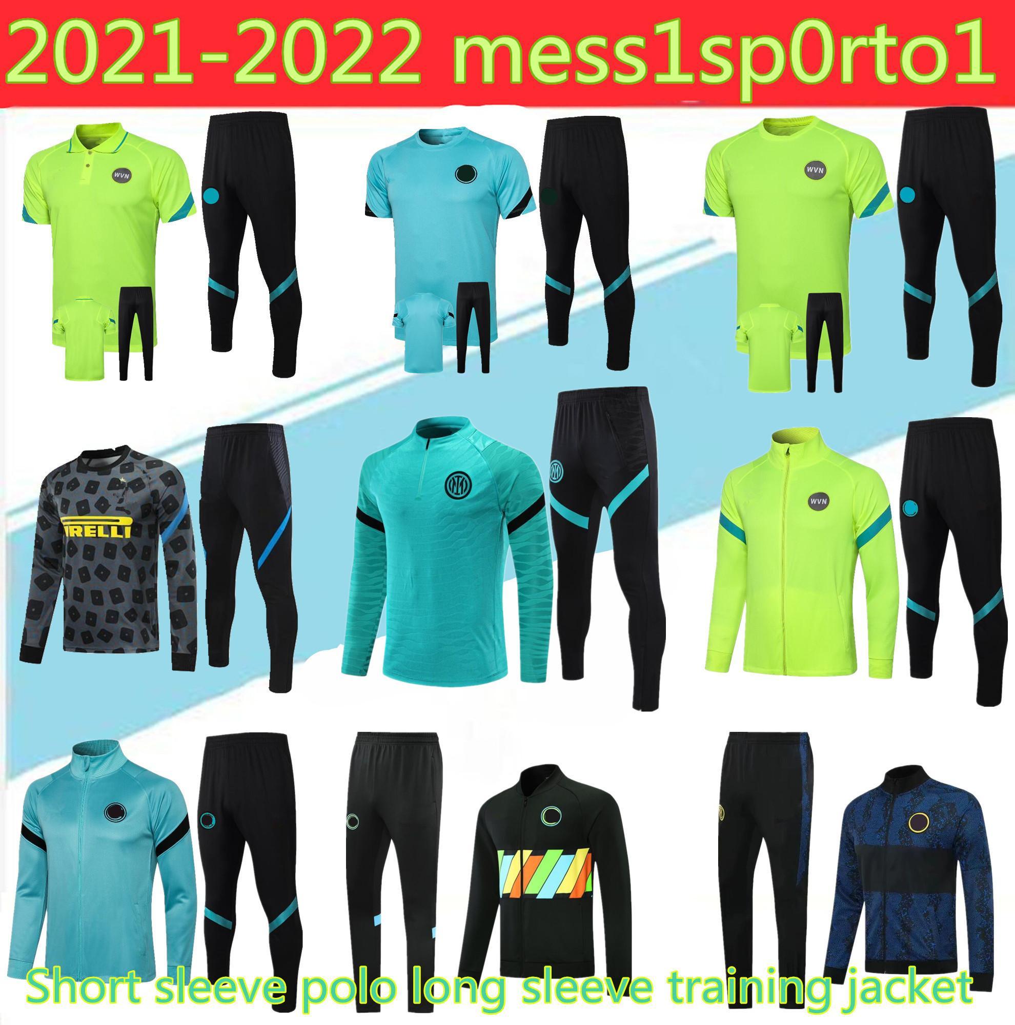 20 21 짧은 소매 폴로 긴 소매 훈련 재킷 축구 훈련 정장 세트 2021 Eriksen Vidal